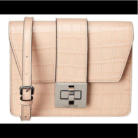 Valentino Handbags - HP🎉NWT Valentino Croco Embossed Leather Crossbody